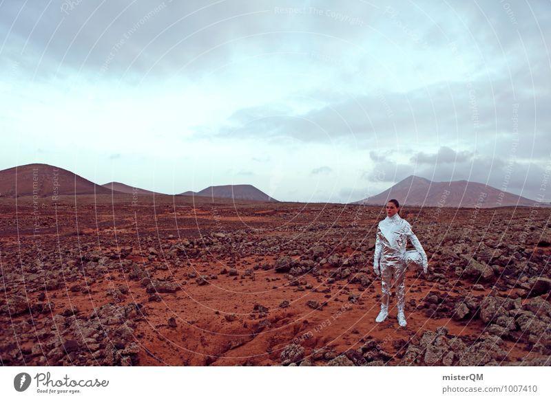 Hello I Kunst Kunstwerk Skulptur ästhetisch Zufriedenheit Theater Filmindustrie außerirdisch Mars Frau Frauenkörper Pionier Astronaut Weltall Futurismus Zukunft