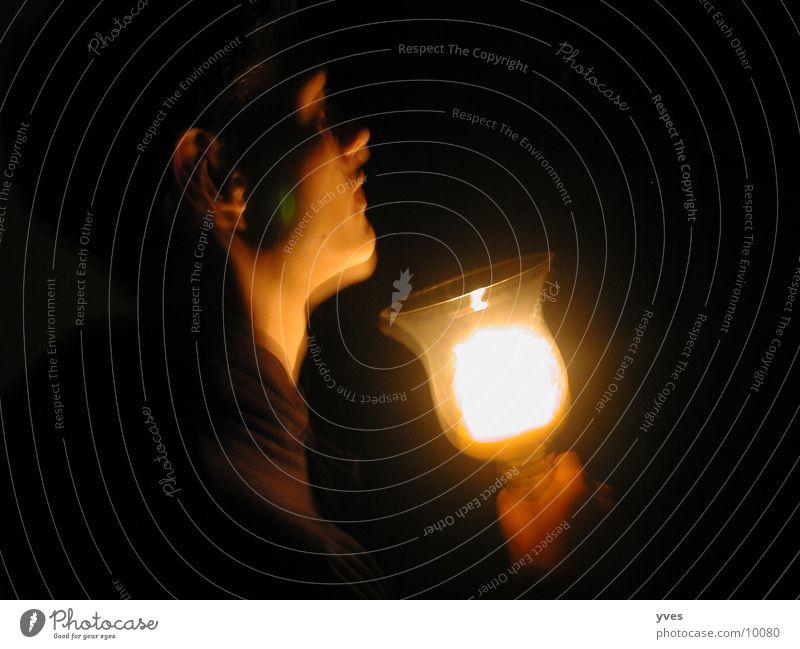 Licht Kerze dunkel Mensch