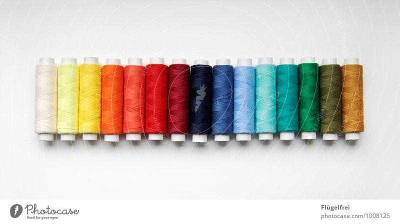 Regenbogarn Farbstoff Kunst glänzend Ordnung Nähgarn sortieren Regenbogen Rolle Nähen Handarbeit