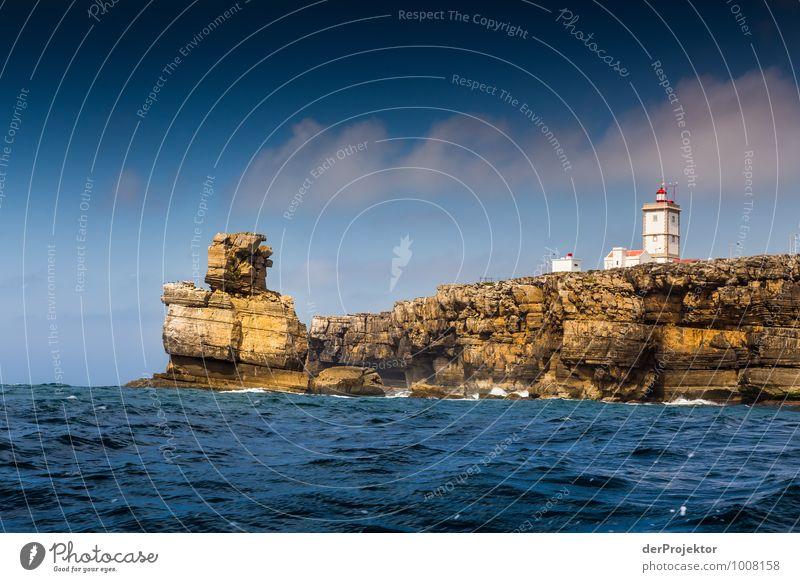 Leuchtturm und Golem Natur Ferien & Urlaub & Reisen Pflanze Sommer Meer Landschaft Ferne Umwelt Gefühle Freiheit Felsen Wellen Tourismus Insel Ausflug