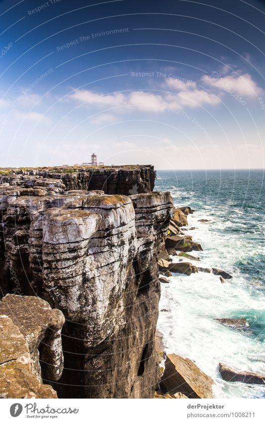 Großer Felsen, kleiner Leuchtturm Ferien & Urlaub & Reisen Tourismus Ausflug Abenteuer Ferne Freiheit Sommerurlaub wandern Umwelt Natur Landschaft Pflanze