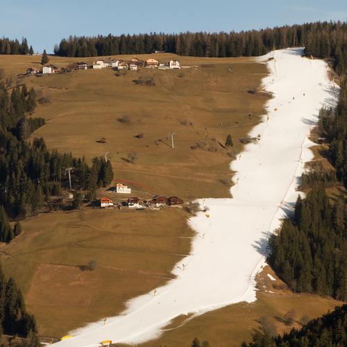Klimawandel im Wintersport Ferien & Urlaub & Reisen blau weiß Baum Wald Umwelt Berge u. Gebirge Schnee Gras Sport braun Tourismus Wandel & Veränderung Italien