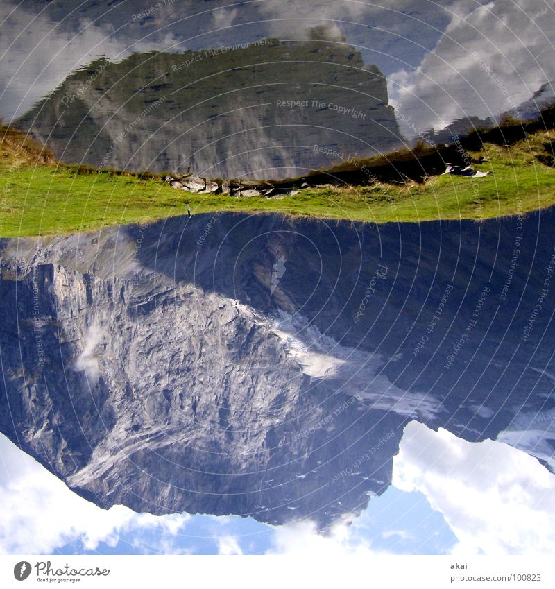 Titlis Wasser Himmel grün Wolken Farbe Gras Berge u. Gebirge See nass Schweiz Alpen Teich Bergsteigen krumm himmelblau alpin
