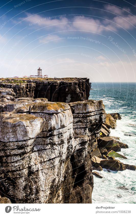 Viel Felsen mit kleinem Leuchtturm Ferien & Urlaub & Reisen Tourismus Ausflug Abenteuer Ferne Freiheit Sommerurlaub Umwelt Natur Landschaft Pflanze Tier