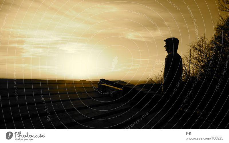 Chillen und so… Himmel Sonne Erholung Einsamkeit Berge u. Gebirge groß Aussicht genießen Romantik Panorama (Bildformat) Abenddämmerung überblicken Abendsonne Sepia