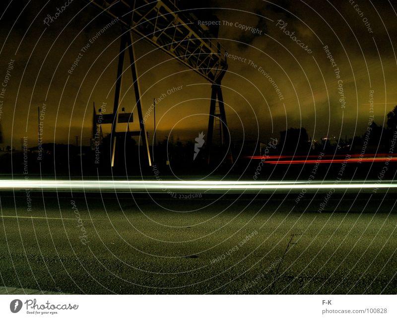 Autopista Industrie Wolken Nachthimmel schlechtes Wetter Verkehr Straße Autobahn Bewegung fahren dunkel Geschwindigkeit Schnellstraße Industrielandschaft