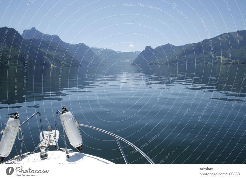 ruhepol Natur Ferien & Urlaub & Reisen Wasser Sommer ruhig Landschaft Umwelt Berge u. Gebirge See Schwimmen & Baden träumen Wasserfahrzeug Tourismus Ausflug