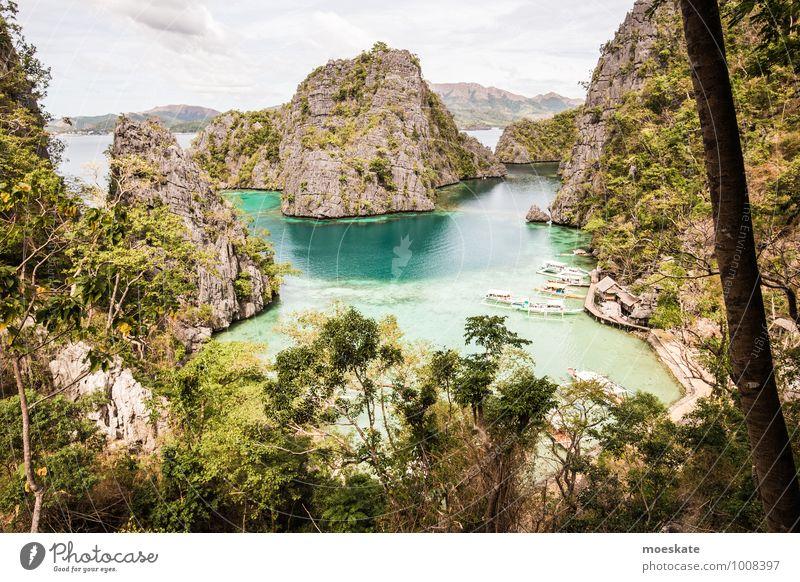 Coron Island Natur Ferien & Urlaub & Reisen blau Wasser Sommer Sonne Baum Meer Ferne Felsen Wetter Tourismus Insel Ausflug Schönes Wetter Abenteuer