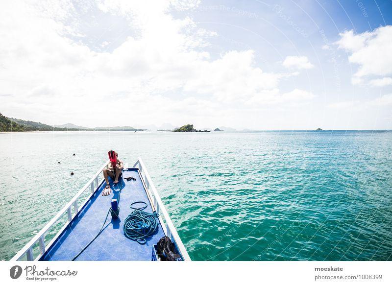 Lass mal ne Runde schnorcheln Ferien & Urlaub & Reisen Tourismus Ausflug Abenteuer Ferne Freiheit Expedition Sommer Sommerurlaub Sonne Meer Insel Wassersport