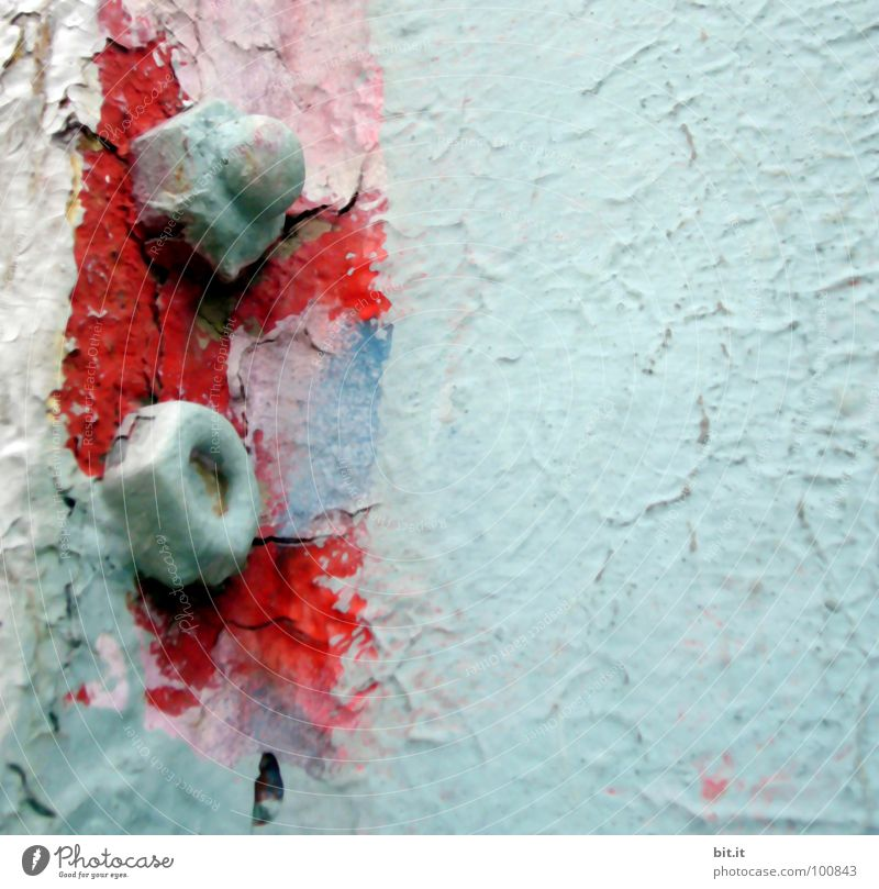ABNABELN alt rot Farbe Wand Farbstoff Mauer Metall Hintergrundbild Verfall Eisen Schraube Lack abblättern angemalt Farben und Lacke lackiert