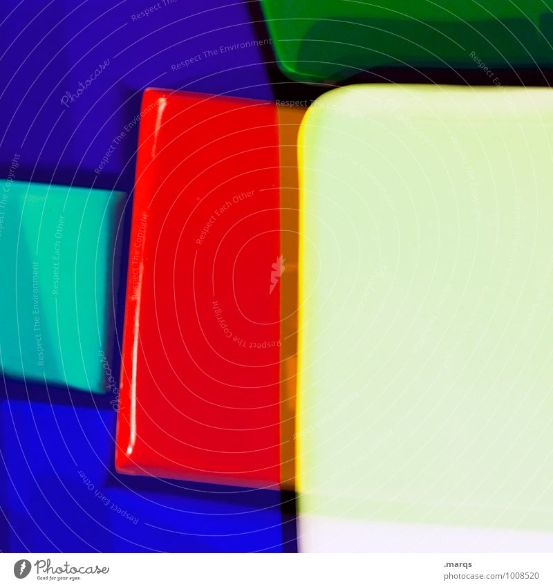Plastic World Farbe Stil außergewöhnlich Lifestyle Design elegant verrückt Kreativität einzigartig Coolness Grafik u. Illustration Kunststoff trendy eckig