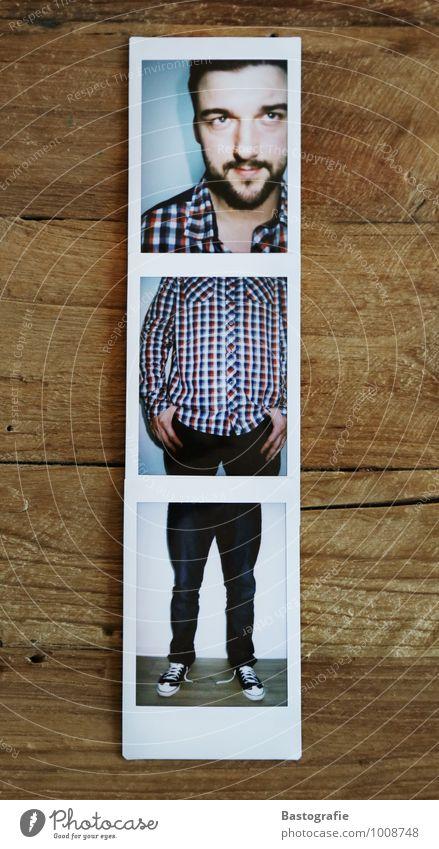 Dreiteiler Mensch Jugendliche blau rot Freude 18-30 Jahre Erwachsene Stil Lifestyle Kunst Mode maskulin Körper stehen Schuhe Veranstaltung
