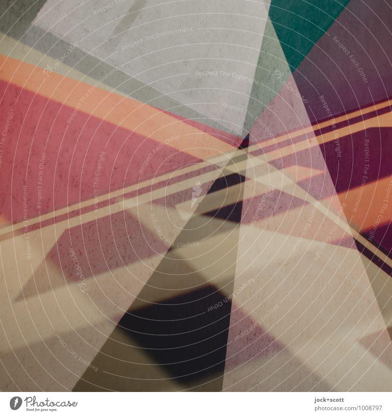 Cocktail Stil Design Grafik u. Illustration Ornament Netzwerk Geometrie Dreieck Ecke Strukturen & Formen ästhetisch eckig trendy einzigartig modern viele