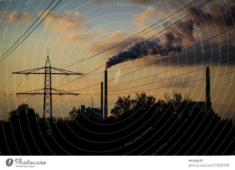 Energiezufuhr Natur dunkel Umwelt Gesundheit Energiewirtschaft Klima Zukunft Elektrizität bedrohlich Industrie Zukunftsangst Wirtschaft Umweltschutz