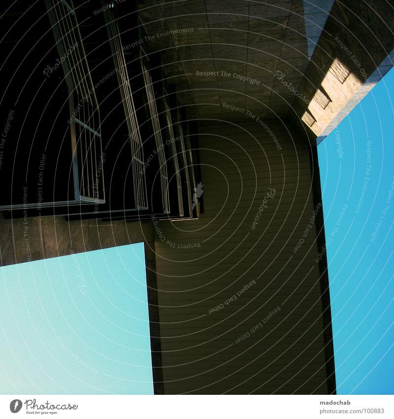HOMEZONE - DIGITALISM Himmel blau Stadt Sommer Haus Architektur Stil Gebäude Kraft hoch Beton Hochhaus groß Brücke trist Macht