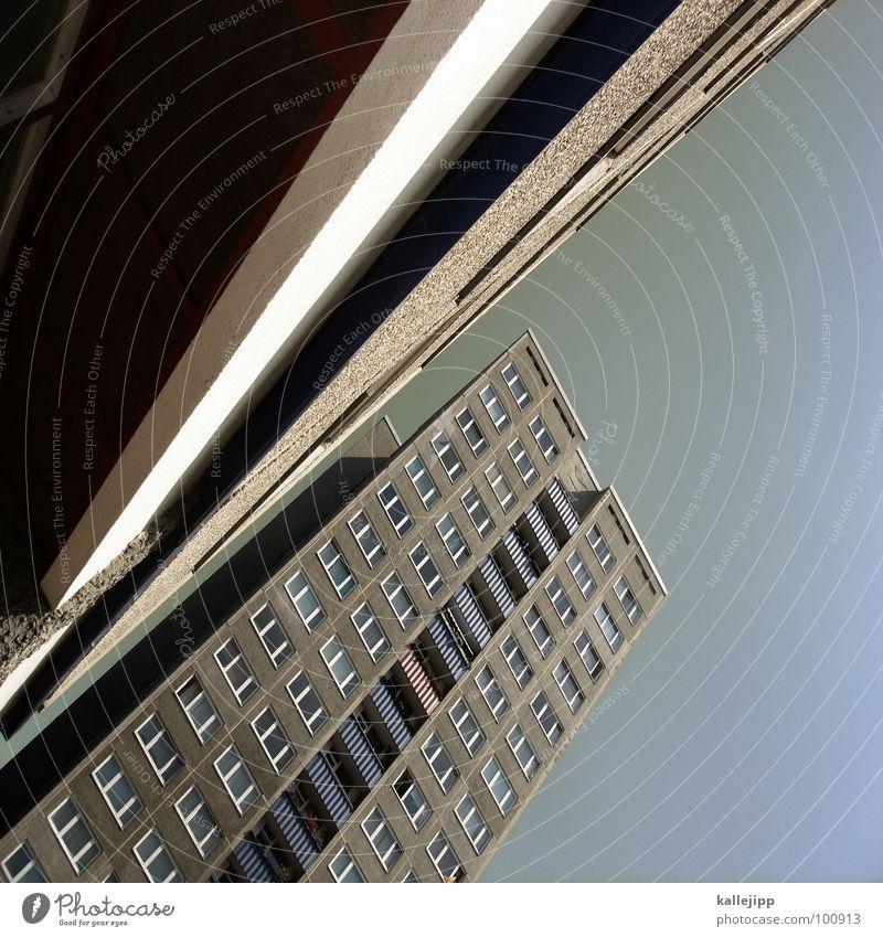 S Himmel Stadt Leben Berlin Fenster Landschaft Architektur Raum Beton Hochhaus Fassade rund Niveau Buchstaben Häusliches Leben Balkon