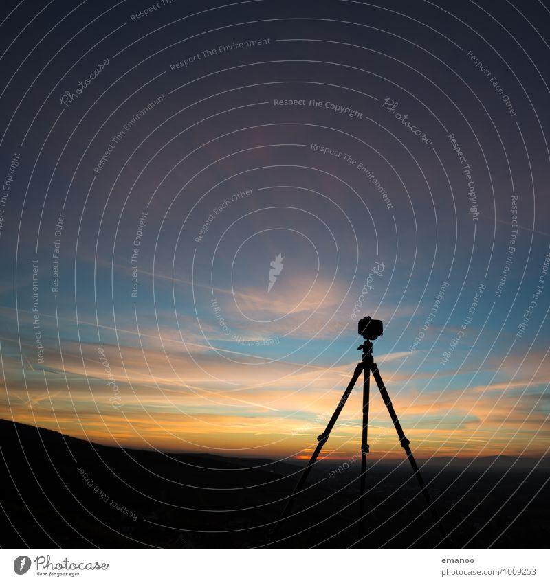 Mr. Tripod Himmel Ferien & Urlaub & Reisen blau Sommer Landschaft Wolken Ferne schwarz Berge u. Gebirge Freiheit Horizont Lifestyle Freizeit & Hobby Wetter