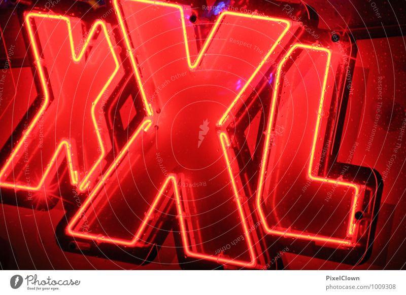 Big Stadt rot Wand Gefühle Stil Mauer Feste & Feiern Kunst Mode glänzend Lifestyle Business Dekoration & Verzierung Design leuchten Schilder & Markierungen