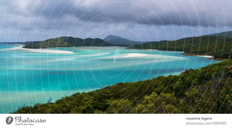 Himmel Natur Ferien & Urlaub & Reisen blau Pflanze grün Wasser Sommer Baum Erholung Meer Landschaft ruhig Strand Umwelt Küste