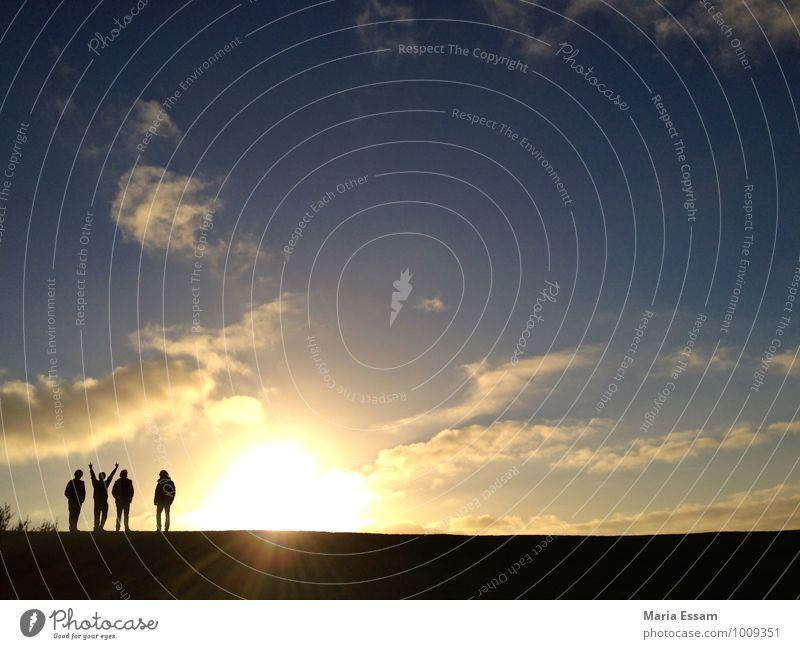Scaniaparken sunset Freiheit Mensch Freundschaft Leben 4 Himmel Wolken Sonnenaufgang Sonnenuntergang Herbst Wetter Park Hügel Malmö Schweden frei Zusammensein
