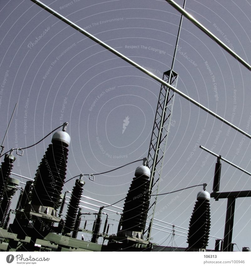 DIE PENISFABRIK DER PHALLUSKRIEGER Tod Metall Linie Park Wellen Energiewirtschaft maskulin mehrere modern gefährlich Elektrizität Sicherheit Industrie Kabel viele Turm