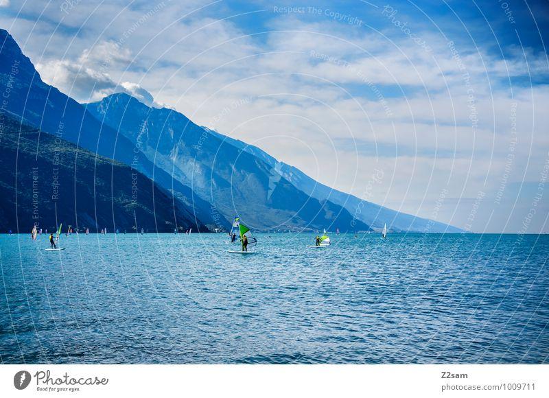 Flaute Mensch Himmel Natur Ferien & Urlaub & Reisen blau Sommer Erholung Landschaft Wolken Umwelt Berge u. Gebirge natürlich Stil Sport See Lifestyle