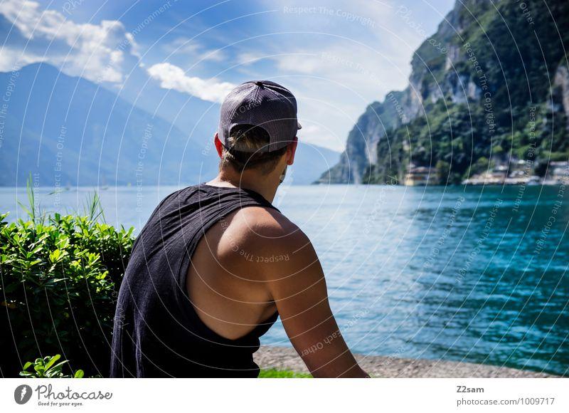 Urlaubsreif Lifestyle elegant Ferien & Urlaub & Reisen Sommer Sommerurlaub Berge u. Gebirge maskulin Junger Mann Jugendliche 18-30 Jahre Erwachsene Umwelt Natur