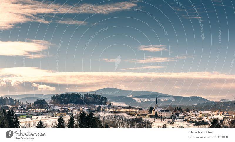 Winterlandschaft Gesundheit Wellness Leben harmonisch Wohlgefühl Zufriedenheit Sinnesorgane Erholung Tourismus Ausflug Abenteuer Schnee Natur Wolken Herbst Baum