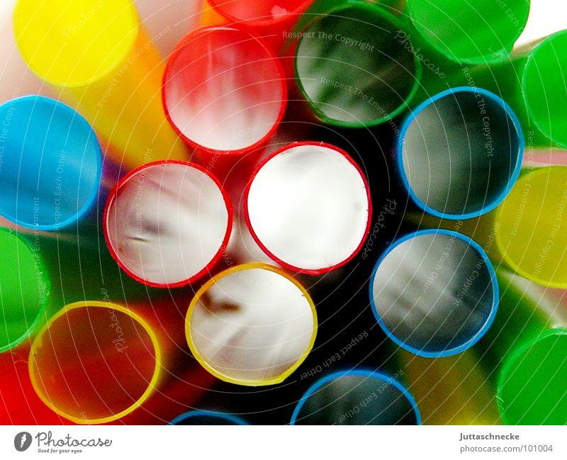 Durchblick Sommer Farbe Dekoration & Verzierung rund Trinkhalm