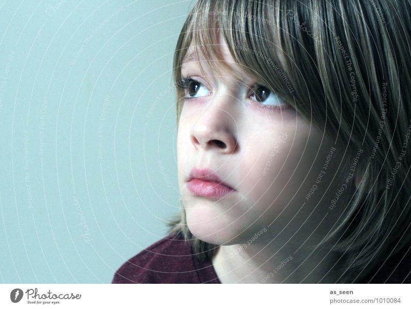Brown eyes Junge Familie & Verwandtschaft Leben Gesicht Auge 1 Mensch 8-13 Jahre Kind Kindheit blond beobachten Denken Blick träumen authentisch modern braun