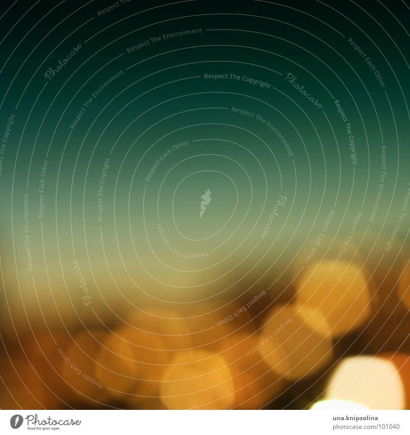 lichtermeer blau grün gelb Fenster Wärme orange modern Punkt Physik türkis Sommernacht