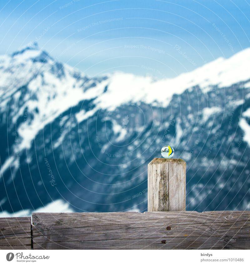 Murmel auf Reisen - Schweizer Alpen Natur Ferien & Urlaub & Reisen Landschaft ruhig Winter Berge u. Gebirge Schnee außergewöhnlich Idylle ästhetisch einzigartig Alpen Schneebedeckte Gipfel Wolkenloser Himmel positiv Perle