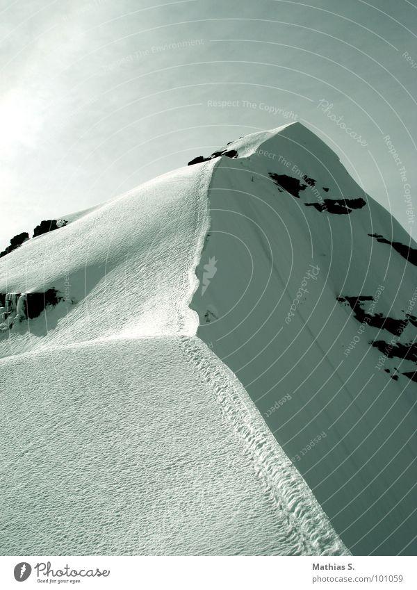 Bolivien III Himmel weiß Ferien & Urlaub & Reisen Schnee Berge u. Gebirge Stein wandern groß gefährlich Ecke Klettern Gipfel Südamerika fertig Absturz