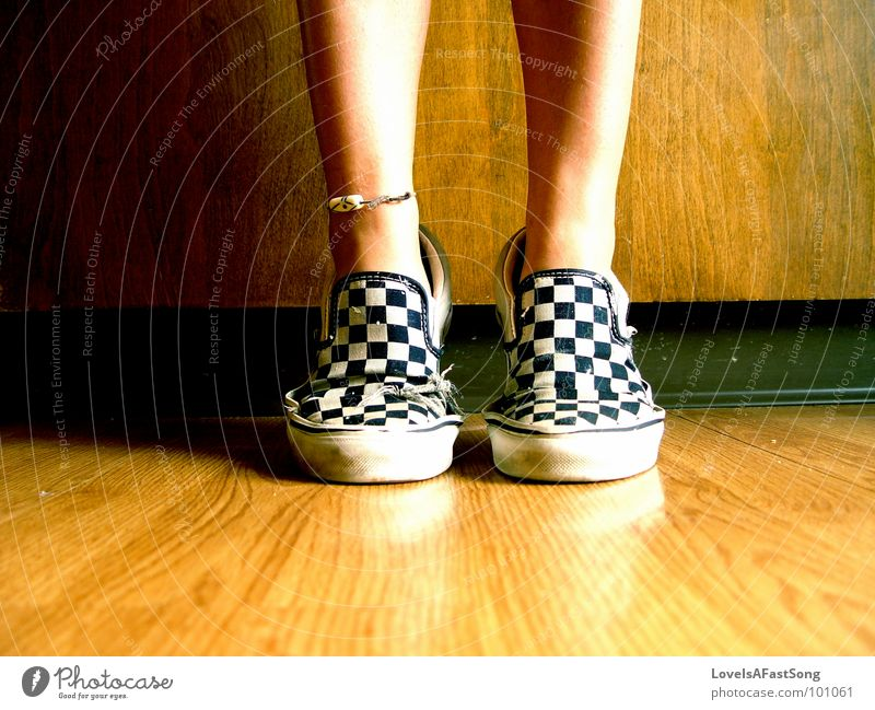 your feet in my shoes? Holzmehl Küche legs tan anklet bare feet checkered slip ons tip toe brown symmetry calf calves kitchen bright sunlight sunshine