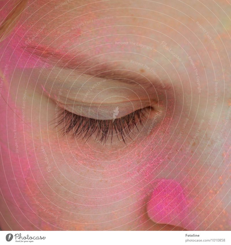 Das Leben ist bunt, nicht grau! Mensch feminin Kind Mädchen Kindheit Haut Haare & Frisuren Gesicht Auge hell schön nah rosa Wimpern Augenbraue Nase Farbfoto