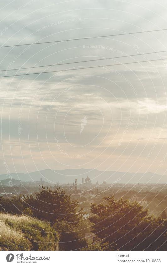Florenz Himmel Natur Ferien & Urlaub & Reisen Stadt Pflanze Sommer Baum Landschaft Wolken Ferne Umwelt Berge u. Gebirge Gebäude Horizont Sträucher Ausflug