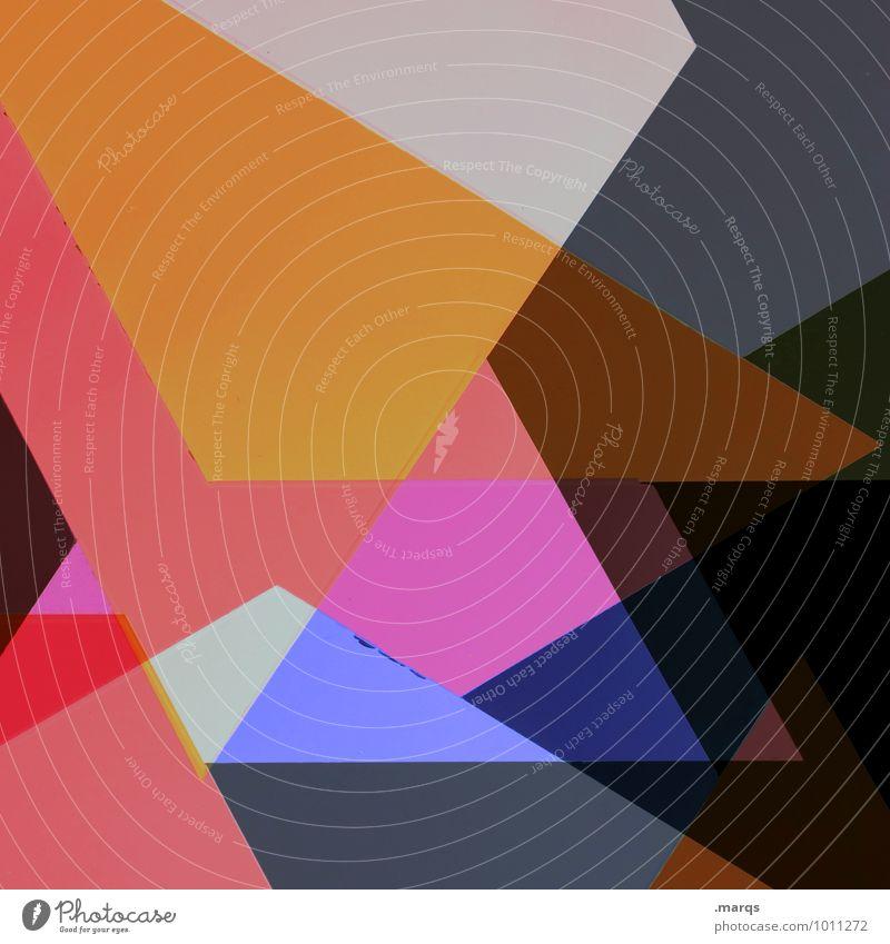 Polygon abstrakt Hintergrundbild bunt eckig Grafik u. Illustration komplex Design Strukturen & Formen Muster Doppelbelichtung Kreativität Stil modern trendy