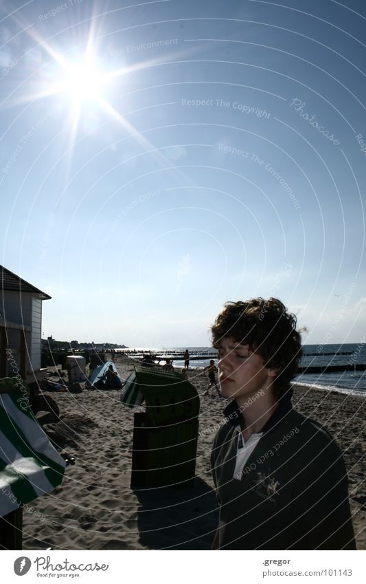 Hitze Himmel Sonne blau Strand ruhig Wärme Küste wandern Physik Erschöpfung
