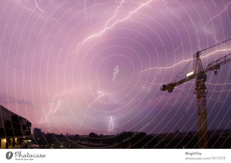 Gewitter Natur Umwelt einzigartig Unwetter Blitze schlechtes Wetter