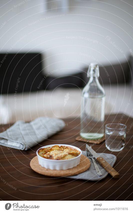 Kartoffel-Apfel-Gratin frisch Ernährung lecker Geschirr Backwaren Teigwaren Mittagessen Vegetarische Ernährung