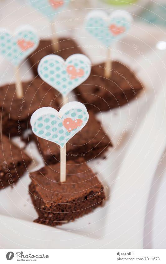 Ein Herz für Kuchen Freude Feste & Feiern Lebensmittel Stimmung Geburtstag Ernährung genießen Hochzeit Küche Süßwaren Dessert Schokolade Picknick Verpackung