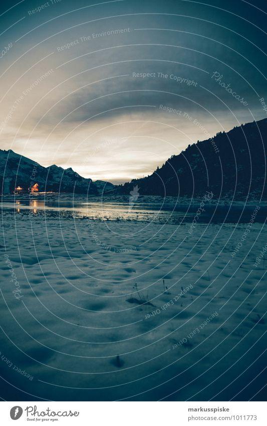 obertauern Ferien & Urlaub & Reisen Einsamkeit Landschaft Winter Ferne Berge u. Gebirge Bewegung Schnee Freiheit See Horizont Lifestyle Eis Freizeit & Hobby