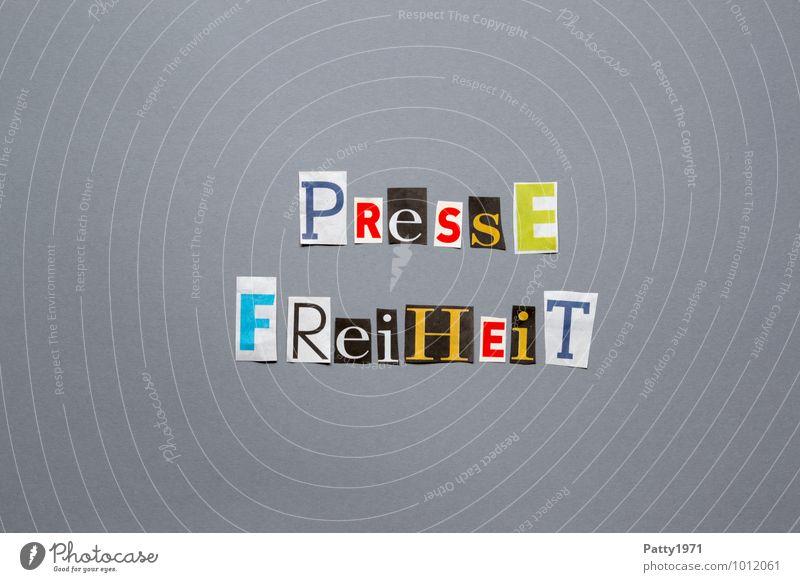 Pressefreiheit Zeichen Schriftzeichen Typographie Verantwortung Toleranz Gerechtigkeit Freiheit Gesellschaft (Soziologie) Politik & Staat ausgeschnitten anonym