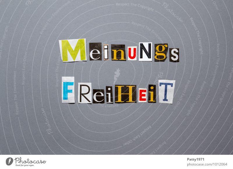 Meinungsfreiheit Freiheit Schriftzeichen Mut Gesellschaft (Soziologie) selbstbewußt anonym Toleranz Gerechtigkeit ausgeschnitten