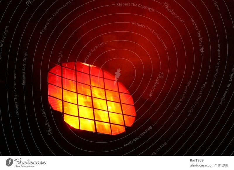 Red Light mehrfarbig rot Licht Lampe heiß Nebel verraucht Physik Elektrisches Gerät Technik & Technologie Ampel hell rotes Licht Scheinwerfer Rauch Wärme