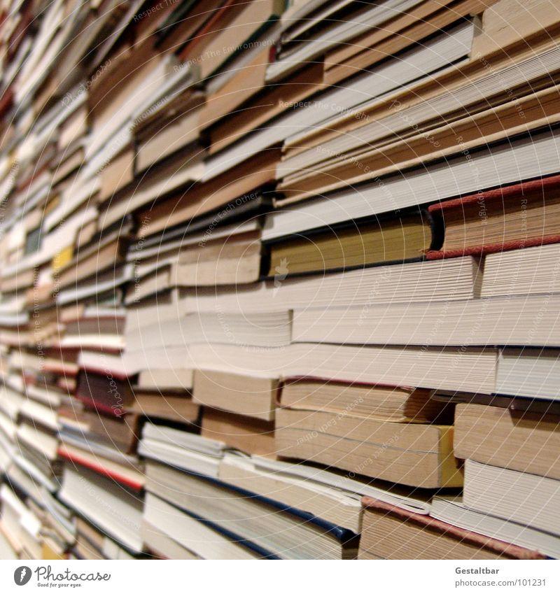 Literarisches Quartet II Buch Haufen lesen Suche finden Buchstaben Papier Altpapier Kunstwerk gestaltbar Bildung Medien Stapel kann man gut gebrauchen Leser