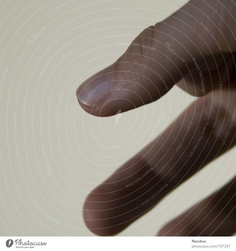 Schräge Linien Mensch Hand Linie hell Finger Streifen diagonal Daumen Fingernagel zeigen Bildausschnitt Körperteile minimalistisch Makroaufnahme Mittelfinger