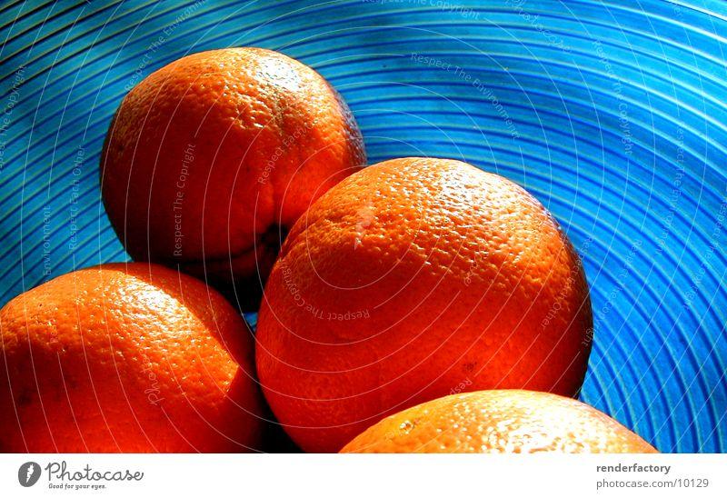 orangen Orange Dinge Frucht blau