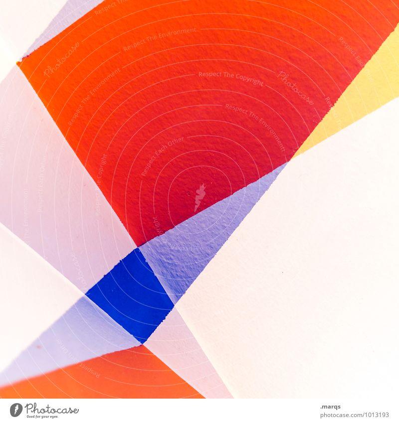 x elegant Stil Design Innenarchitektur Linie außergewöhnlich hell trendy modern neu blau orange rot weiß Farbe Wand Doppelbelichtung Hintergrundbild Farbfoto