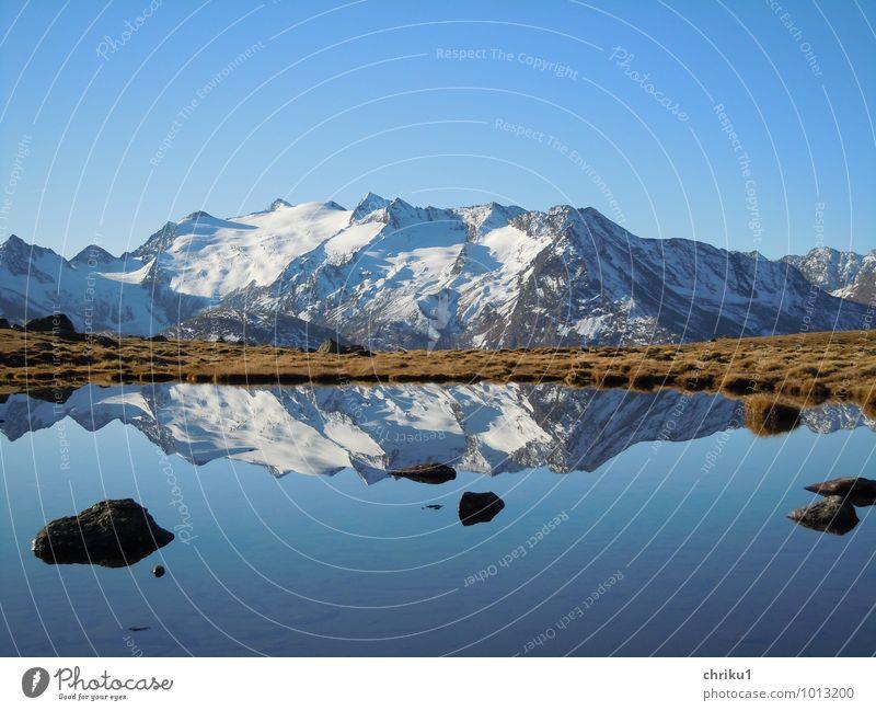 Doppelkette Himmel Natur Wasser Landschaft ruhig Berge u. Gebirge Herbst Freiheit See Alpen Schneebedeckte Gipfel